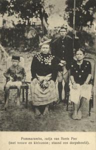 indonesia, CELEBES, Radja Pommaramba of Rante Pao with Wife (1910s) Postcard