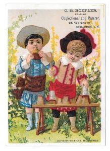 1882 A B Seeley Victorian Trade Card Confectioner Hoefler