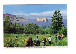 Hikers at Perce Rock, Bonaventure Island, Quebec, Photo Al Cassidy