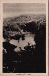 Thessalon River Ontario ON Ont c1938 Vintage Postcard D40