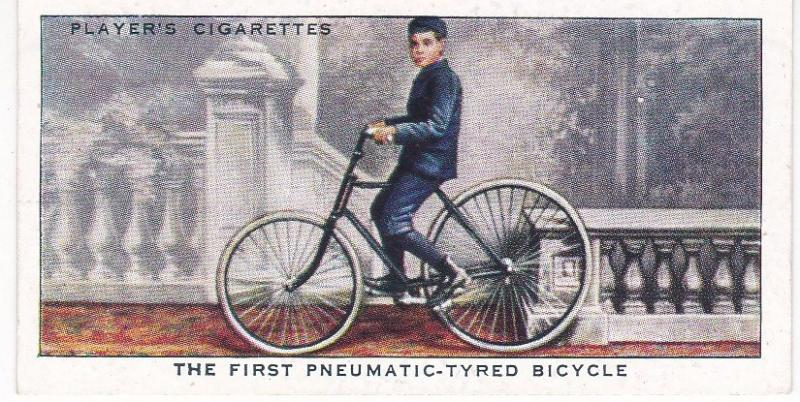 Cigarette Cards Players CYCLING No 17 The First Pneumatic-Tyred Bicycle