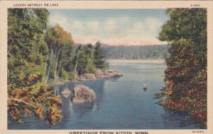 Minnesota Greetings From Aitkin Curteich