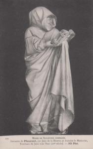 Pluerant Statue Jean De La Huerta Sculpture Museum Antique Postcard