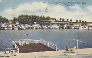 Florida Clearwater Beach Clearwater Municipal Marina & Boat Slips 1957