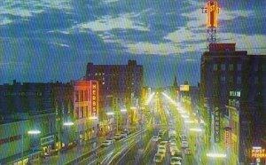 Broadway At night Fargo North Datoka