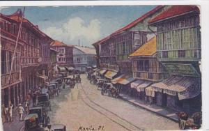 Escolta, Main Street, Binonde or New Manila, Railway, Philippines, PU-1913