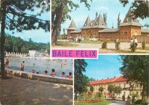 Postcard Romania baile felix multi view arhitectura bazin piscina strand termal