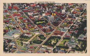 Colorado Denver Aerial View 1937