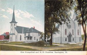 Barrington Illinois~Zion Evangelical Church~Methodist Episcopal Church~1908 PC