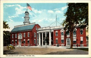 Vtg 1920s State Capitol Building Dover Delaware DE Unused Postcard