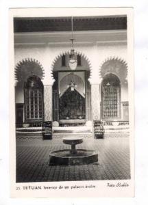 RP; TETUAN , Morocco, 20-40s ; Interior de un Palacio arabe