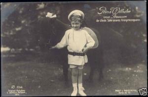 prussia, Prince Wilhelm (1910) RPPC