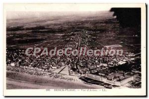 Old Postcard Avion Berck Beach view