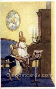 The Duet Nursery Rhyme Postcard Post Card Old Vintage Antique Artist Margaret...