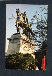 MO Statue Saint St Louis Art Museum France King IX Missouri Postcard