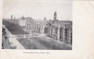 BOSTON, Massachusetts, 1910-1920s; Commonwealth Avenue