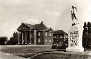 CPA Tegelen Gemeentehuis met Maria-monument NETHERLANDS (728633)
