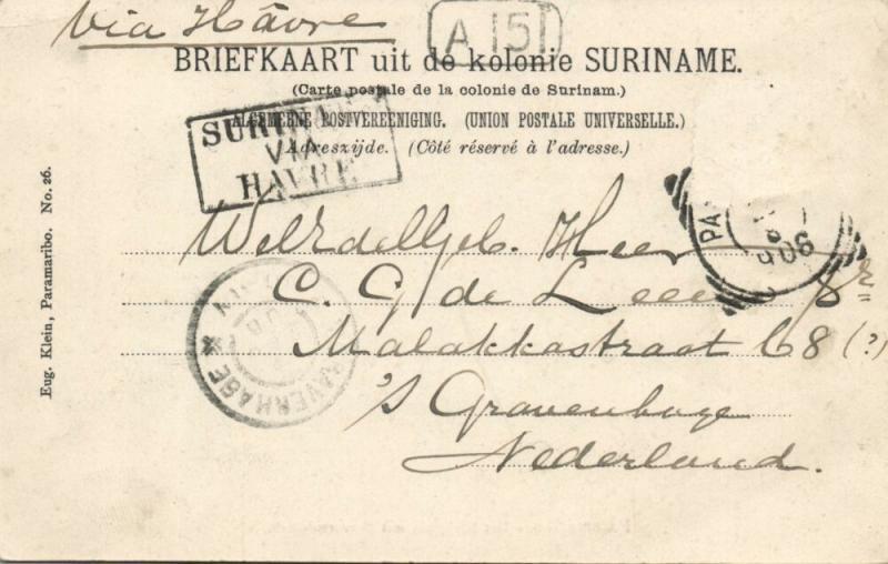 suriname, PARAMARIBO, Kerkplein, Reformed Church (1906)