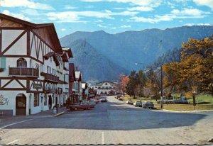 Washington Leavenworth Downtown Scene In Autumn