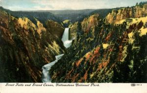 WY - Yellowstone National Park. Great Falls & Grand Canyon
