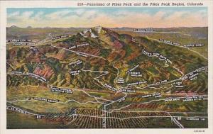 Colorado Pikes Peak Region Panorama Of Pikes Peakeak Region