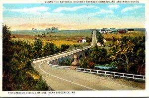 Maryland Old Jug Bridge Near Frederick 1925 Curteich