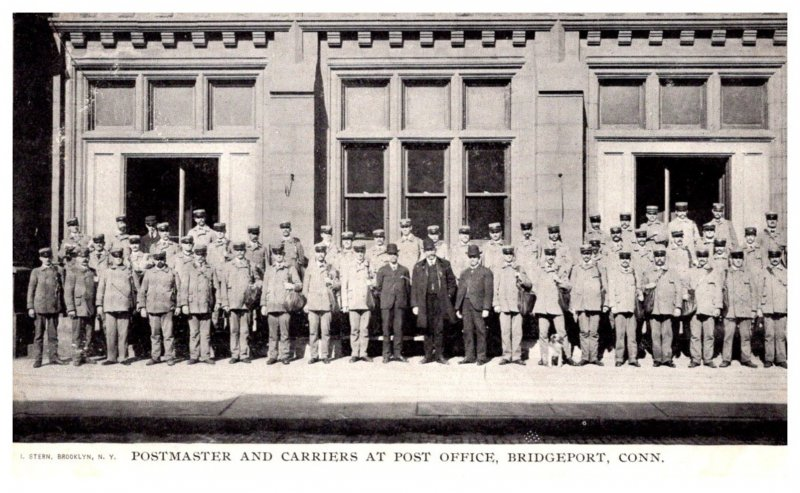 Connecticut Bridgeport  Postmaster and Carriers at Post office