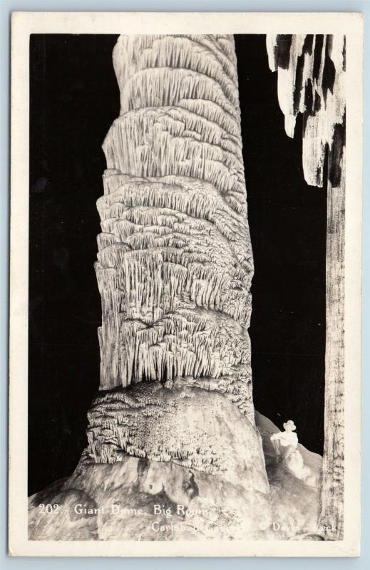 Postcard NM Carlsbad Caverns Giant Dome Big Room RPPC Real Photo O02