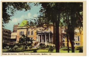 SHERBROOKE, Quebec, Canada, 1900-1910's; Palais De Justice, Court House