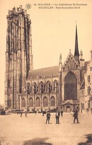 Malines Belgium, Belgique, Belgie, Belgien La Cathedrale St Rombaut Malines L...