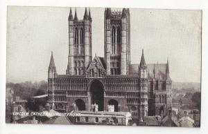 England UK Lincoln Cathedral West Front Vtg TT&S Queen Series Postcard Church