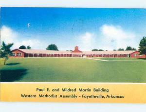 1950's WESTERN METHODIST ASSEMBLY CHURCH Fayetteville Arkansas AR Q3740