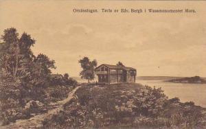 Ornasstugan. Tavla av Edv. Bergh i Wasamonumentet Mora , Sweden, 1923