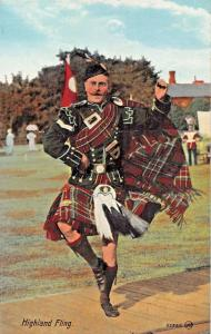 SCOTLAND MILITARY SOLDIER~HIGHLAND FLING POSTCARD