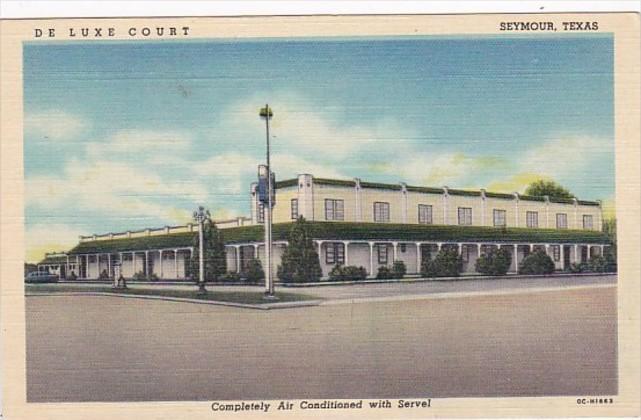 Texas Seymor De Luxe Court 1953 Curteich