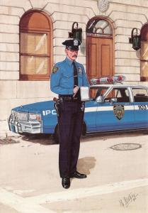 Postcard New York City Police Department Police Officer NYMPF 1980s #19-6