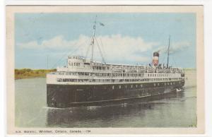 Steamer SS Noronic Windsor Ontario Canada 1950c postcard