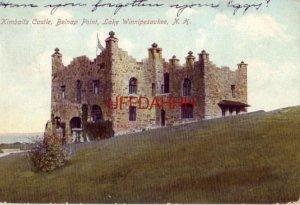 pre-1907 KIMBALLS CASTLE, BELNAP POINT, LAKE WINNIPESAUKEE, NH