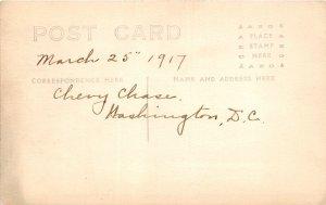 H78/ Washington D.C. RPPC Postcard c1910 Woman Chevy Chase Maryland 160
