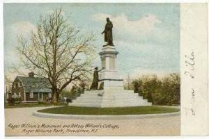 Roger William's Monument & Betsey William's Cottage, Providence, Rhode Island...