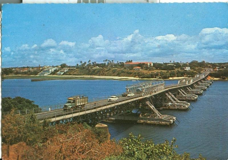 Kenya, Nyali Floating bridge, Mombasa,1970s used Postcard