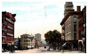 New York  Utica , Genesee Street and Butterfield Hotel