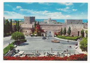 Greece Rhodes Liberty Gate Fortress Walls Rhodos Rodi Vtg 4X6 Postcard