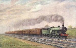 L.N.E.R. Leeds - Bradford Express Train Trains Locomotive, Steam Engine,  Pos...