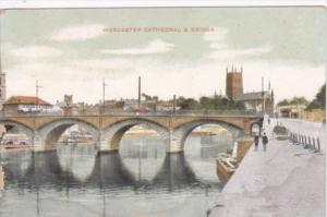England Worcester Cathedral and Bridge