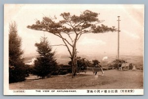 ANTUNG PARK VIEW CHINA ANTIQUE POSTCARD Chinese