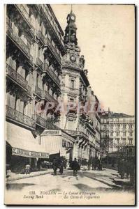 Old Postcard Bank Caisse d & # 39Epargne Toulon