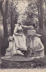 PARIS, Jardin du Luxembourg, Statue de A. Watteau (1684-1721) France, 00-10s