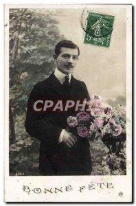 Postcard Fancy Old Man