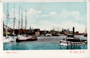 St John NB Canada - WATERFRONT view of docks 1910s